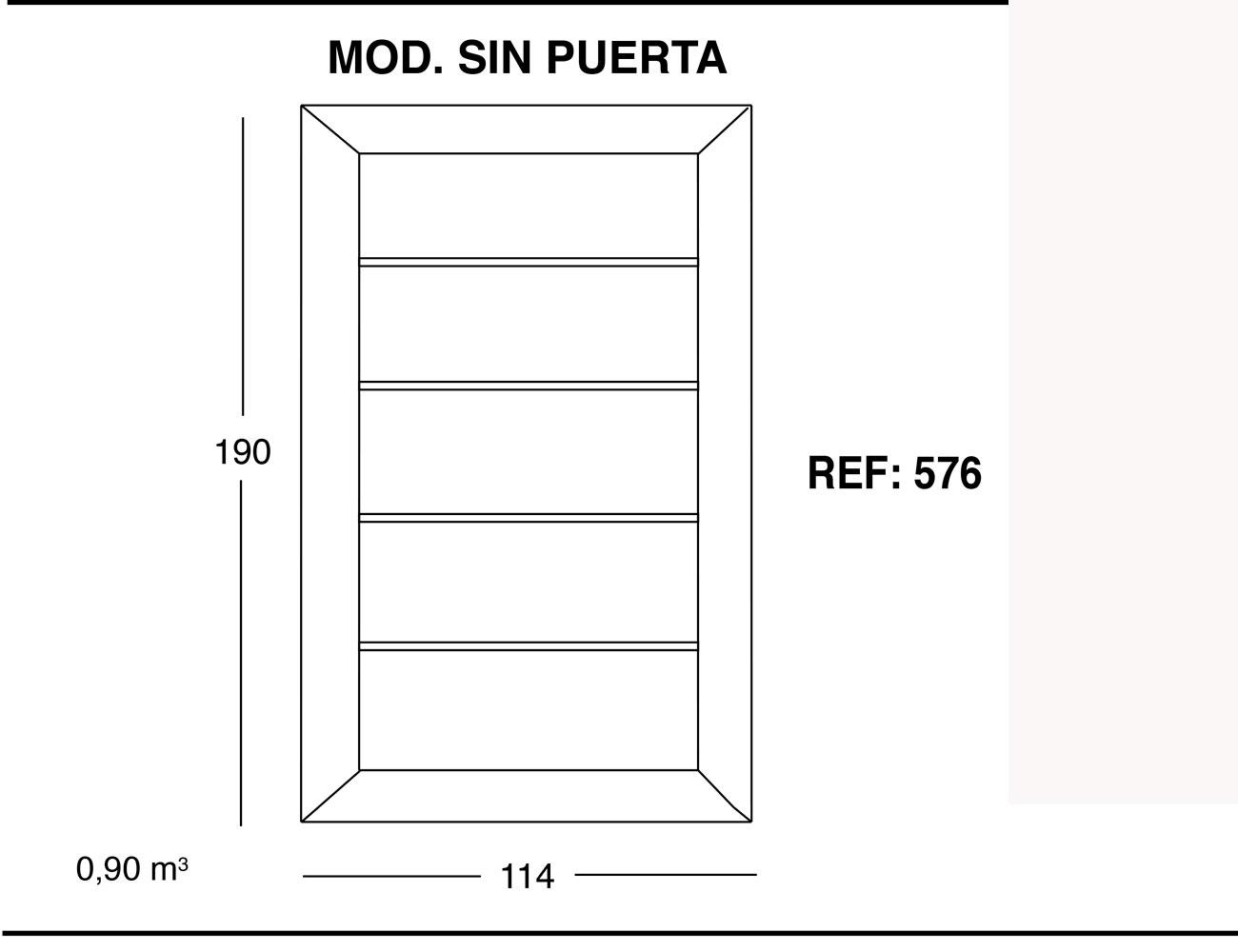 Modulo sin puerta 190 114