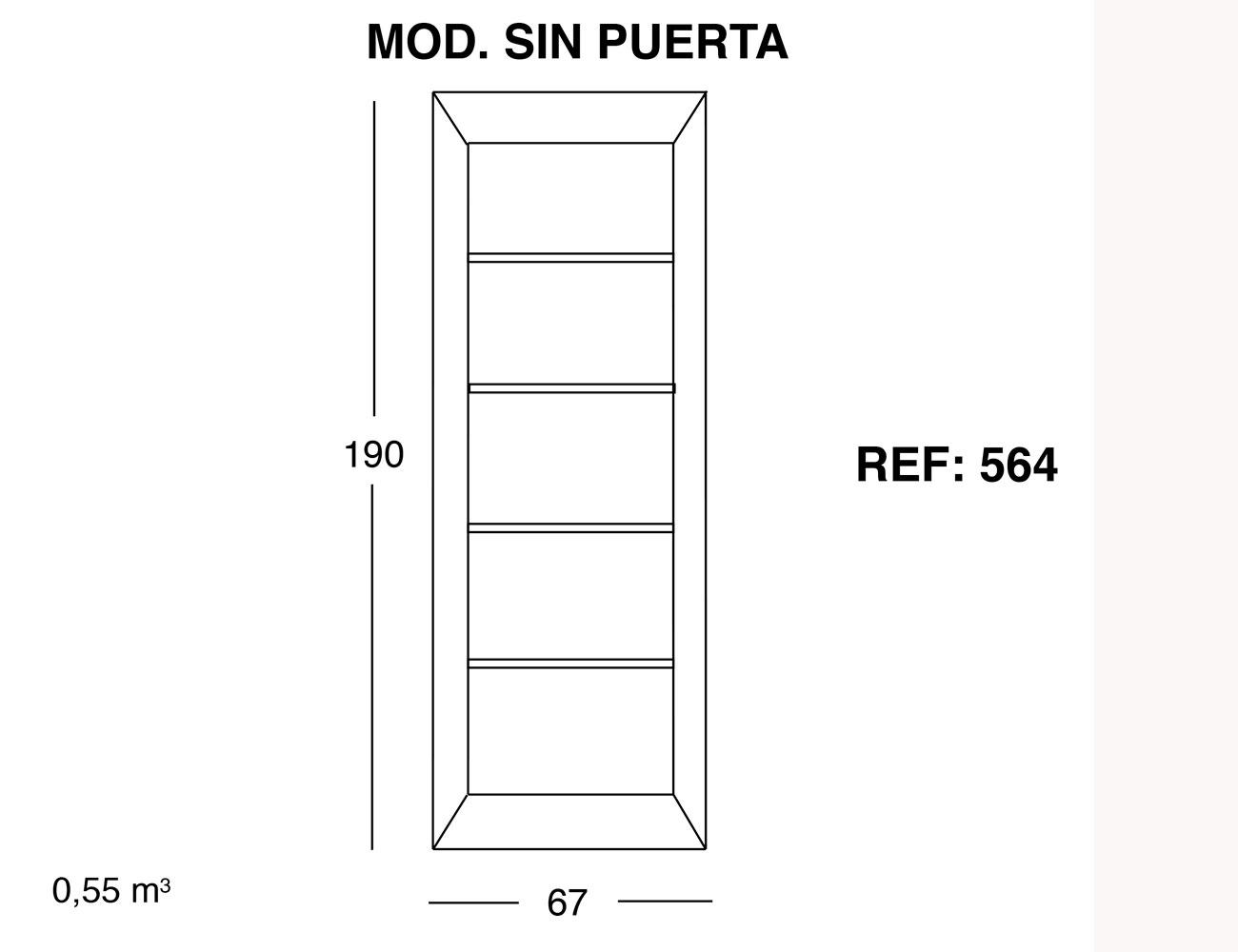 Modulo sin puerta 190 67