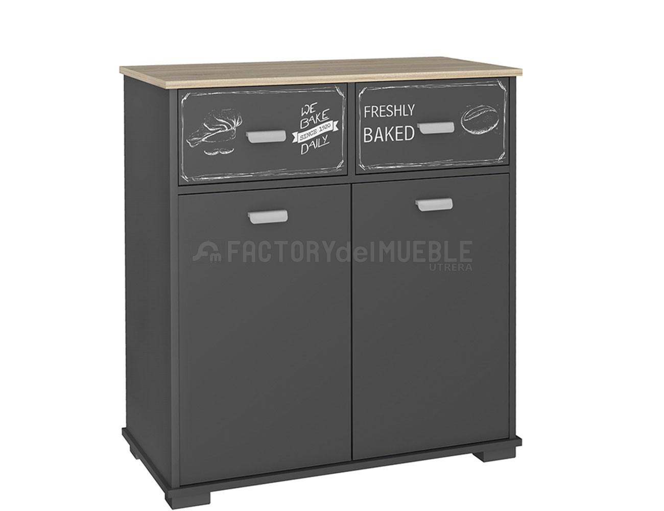 Mueble buffet de cocina de 90 cm de alto (3420) | Factory del Mueble ...