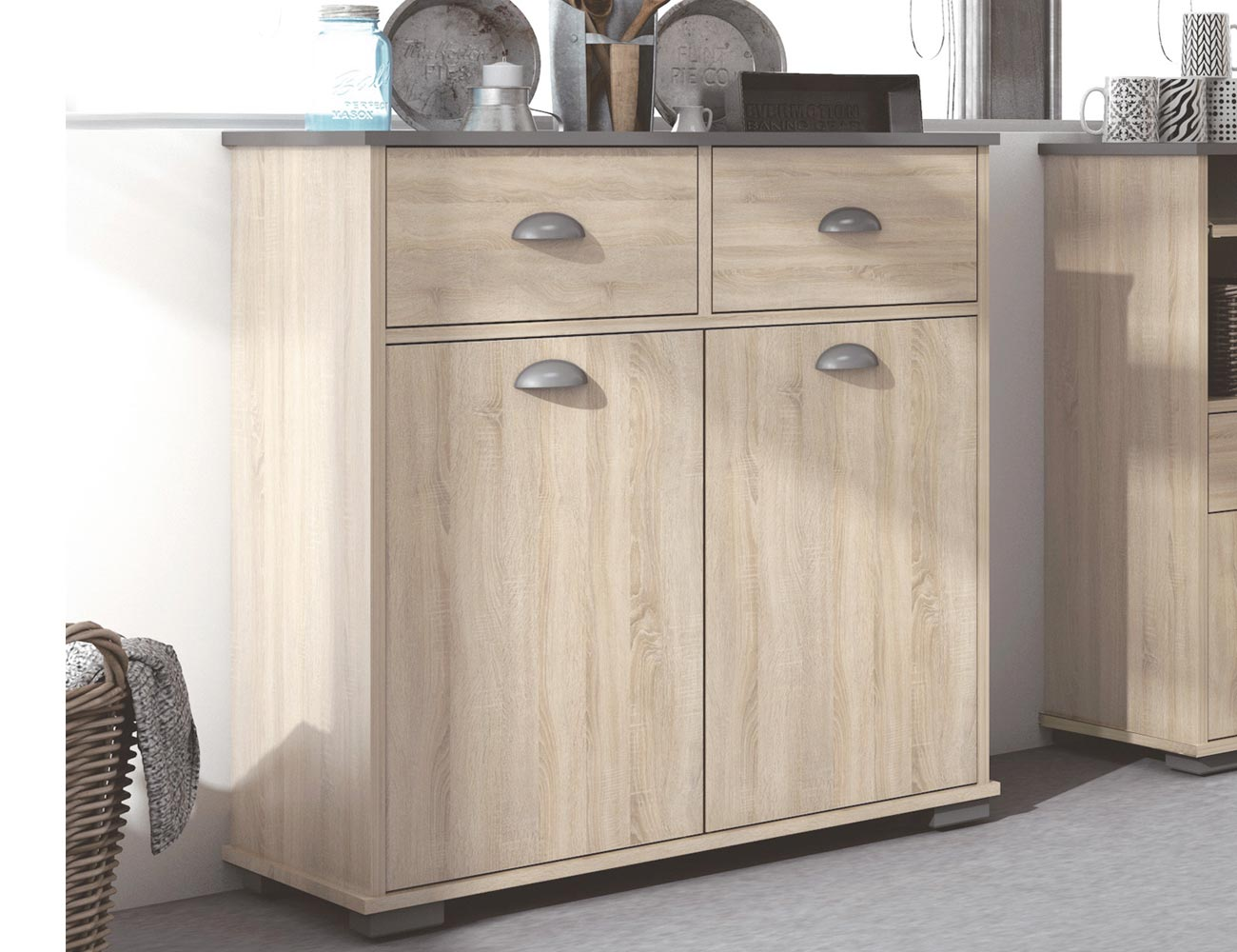 Mueble buffet de cocina de 90 cm de alto 21464 factory for Manual para muebles de cocina