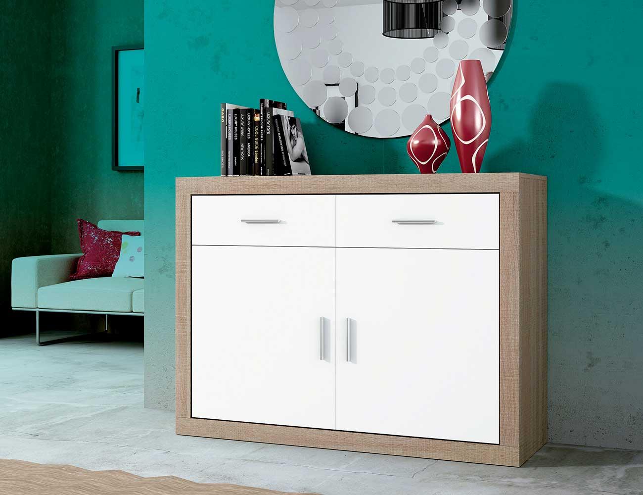 Mueble salon aparador 2 puertas cambrian blanco 120 cm11