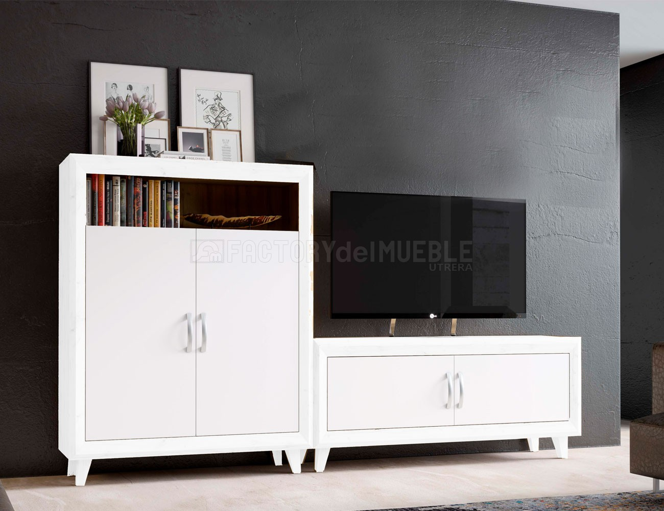 Mueble salon blanco claudia1