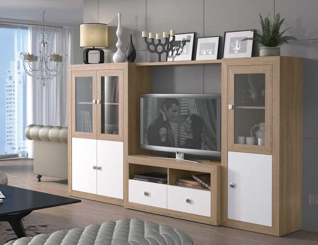 Mueble salon colonial cambrian blanco 081