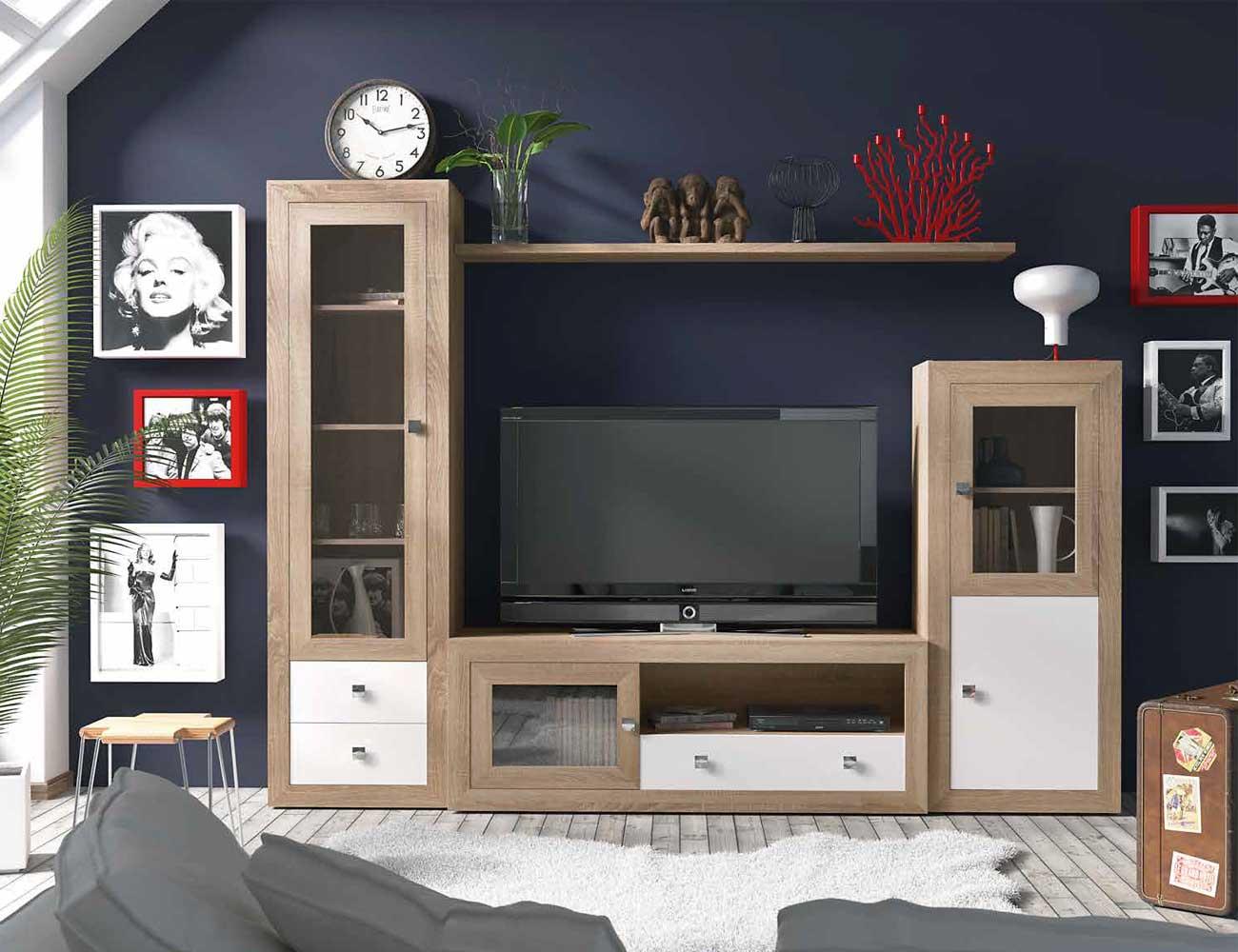 Mueble salon colonial cambrian blanco 11