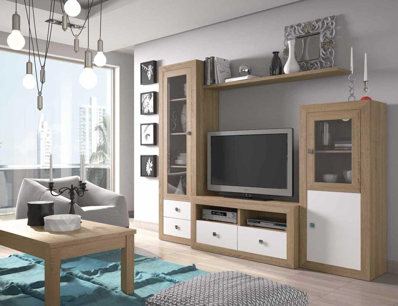 Mueble salon colonial cambrian blanco 22