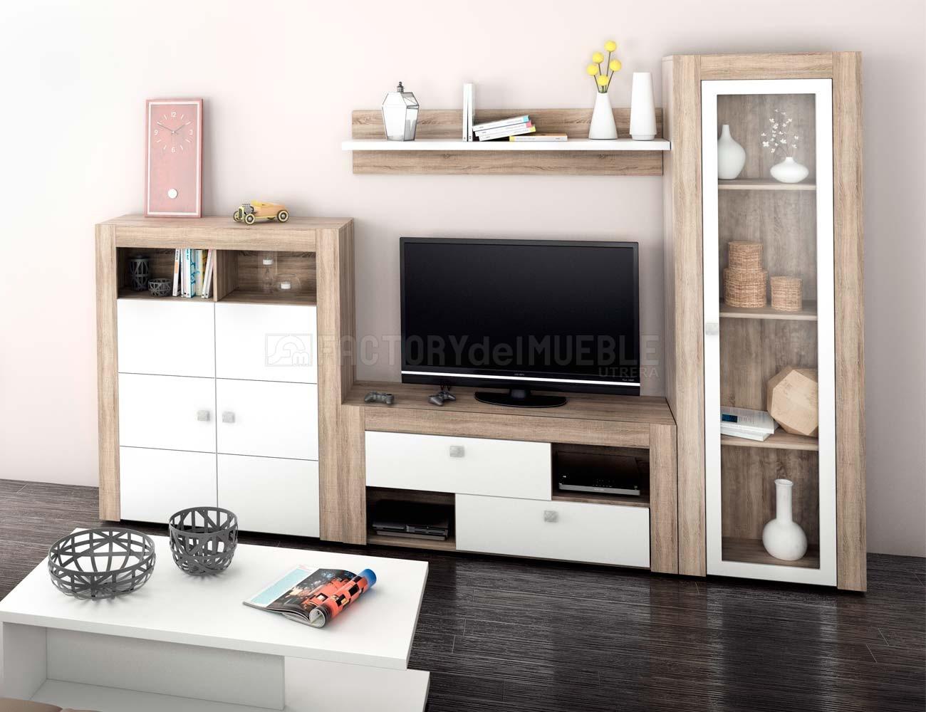 Mueble de sal n estilo moderno en cambrian con blanco for Factory del mueble azuaga