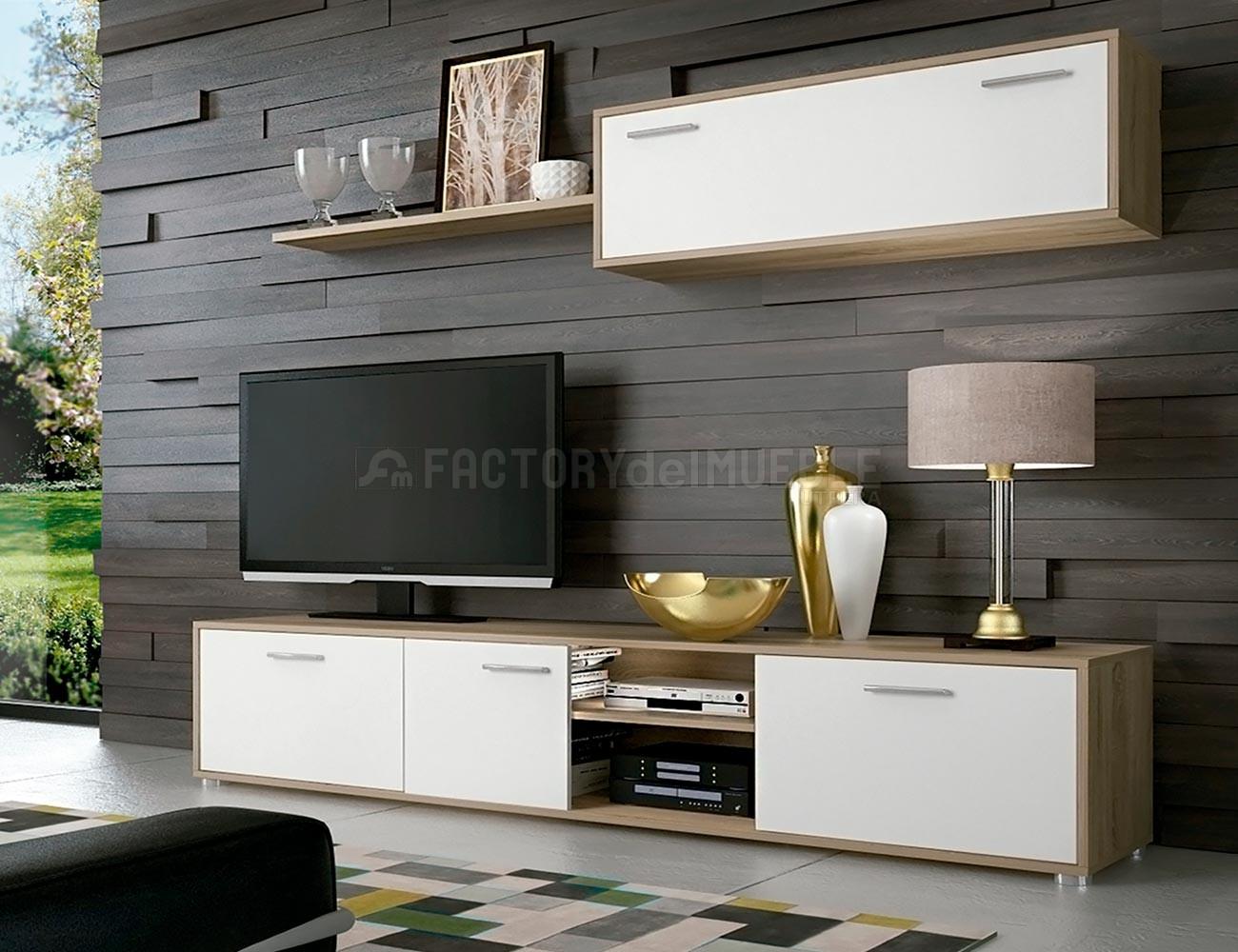 Mueble salon comedor cambrian blanco5