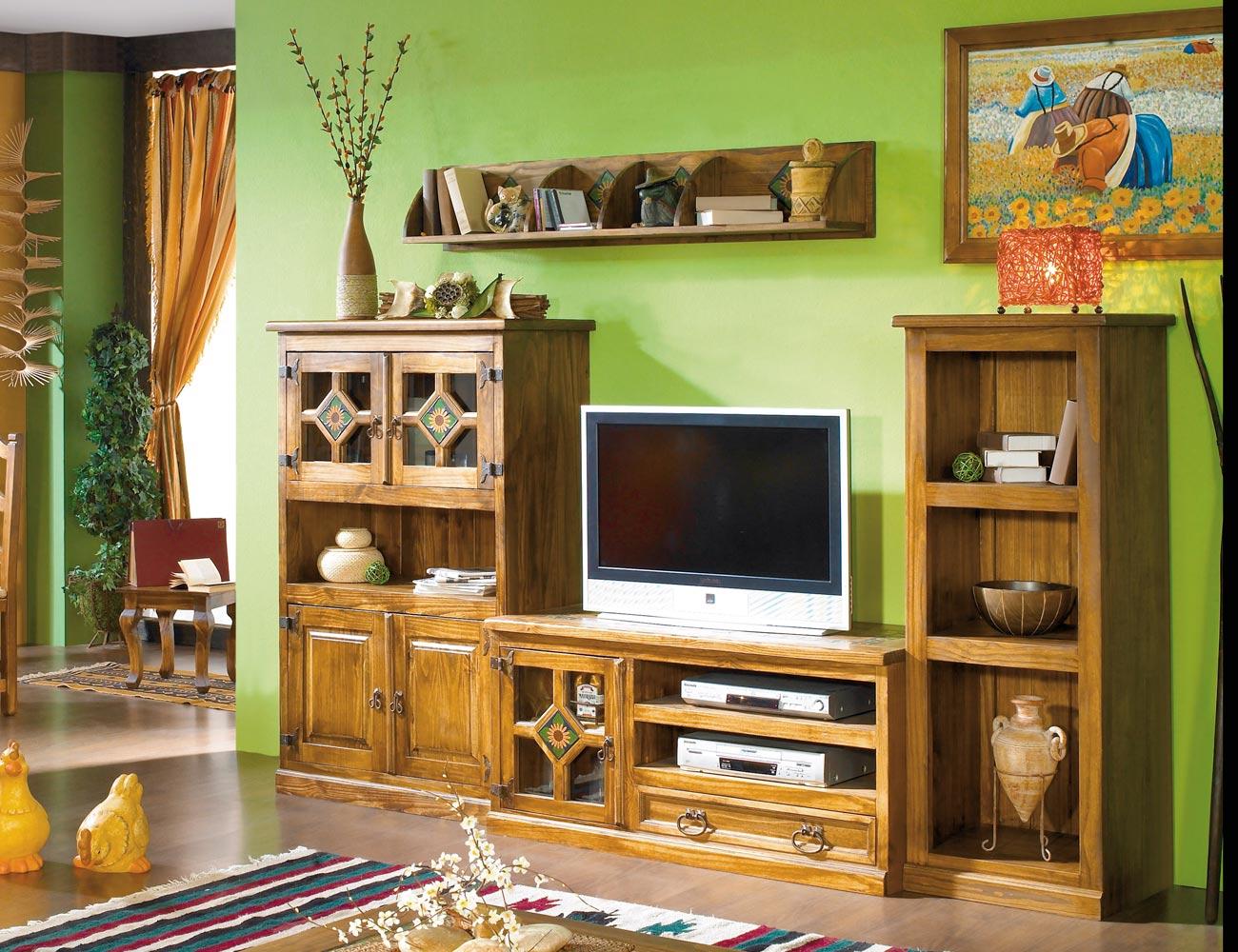 Mueble salon comedor madera jalisco girasol 265