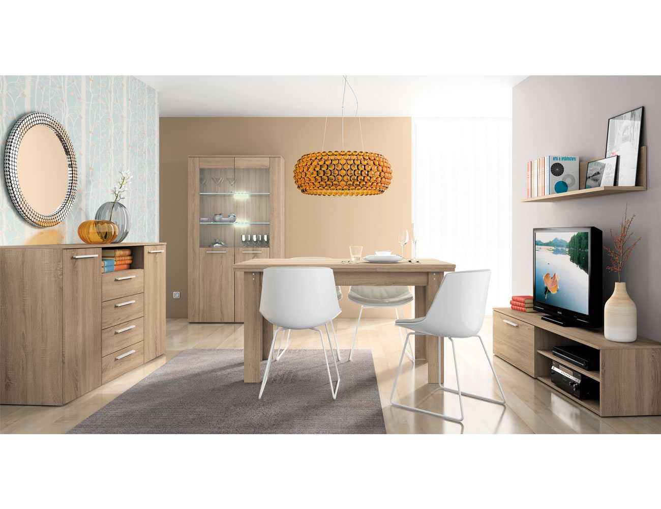 Mueble salon moderno cambrian 407