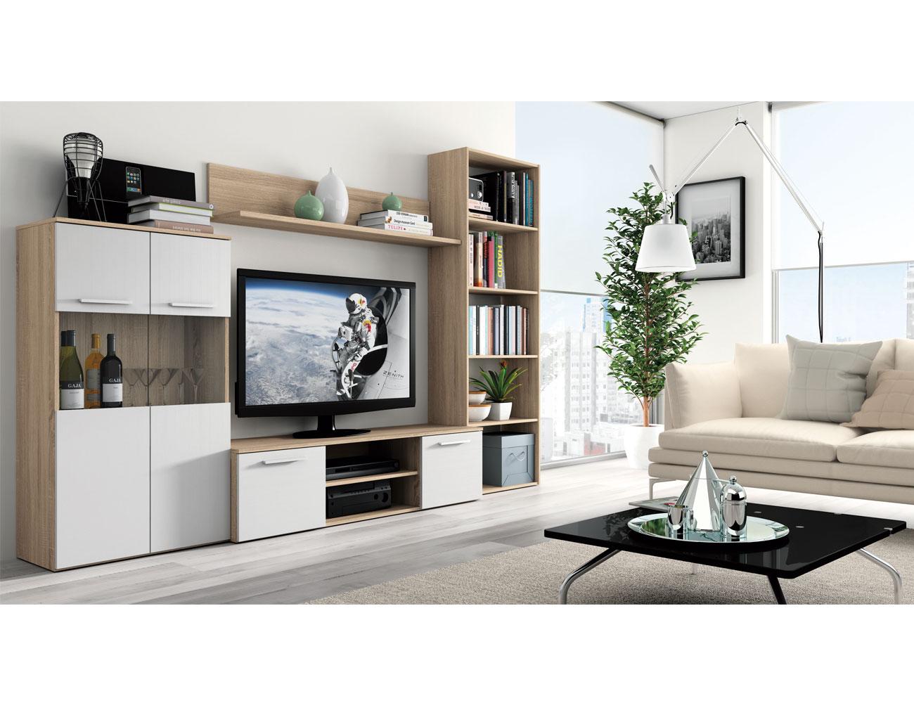 Mueble salon moderno cambrian blanco 416