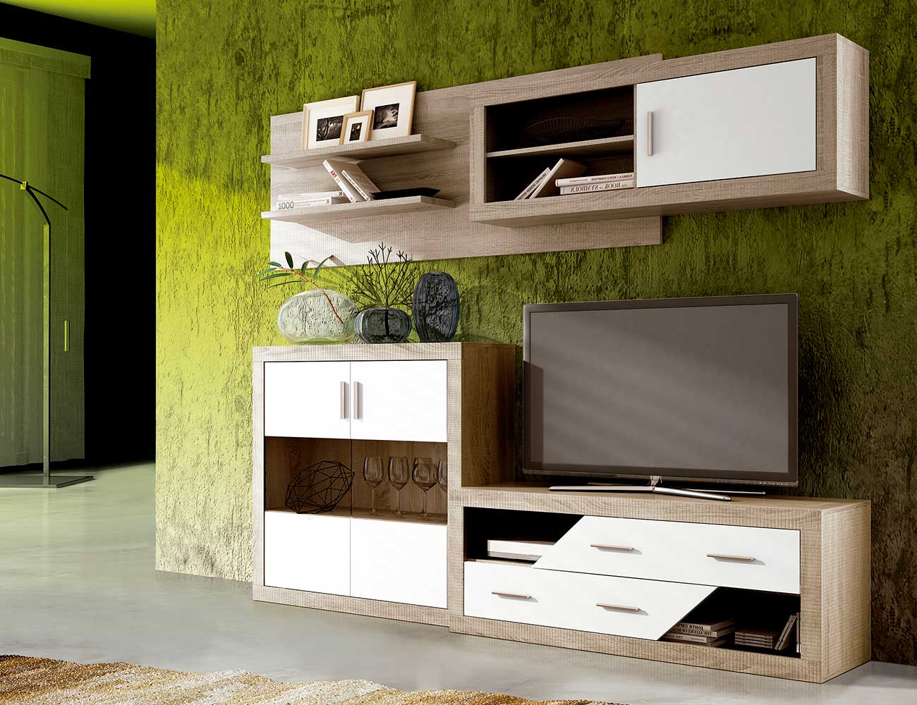Mueble salon moderno cambrian blanco