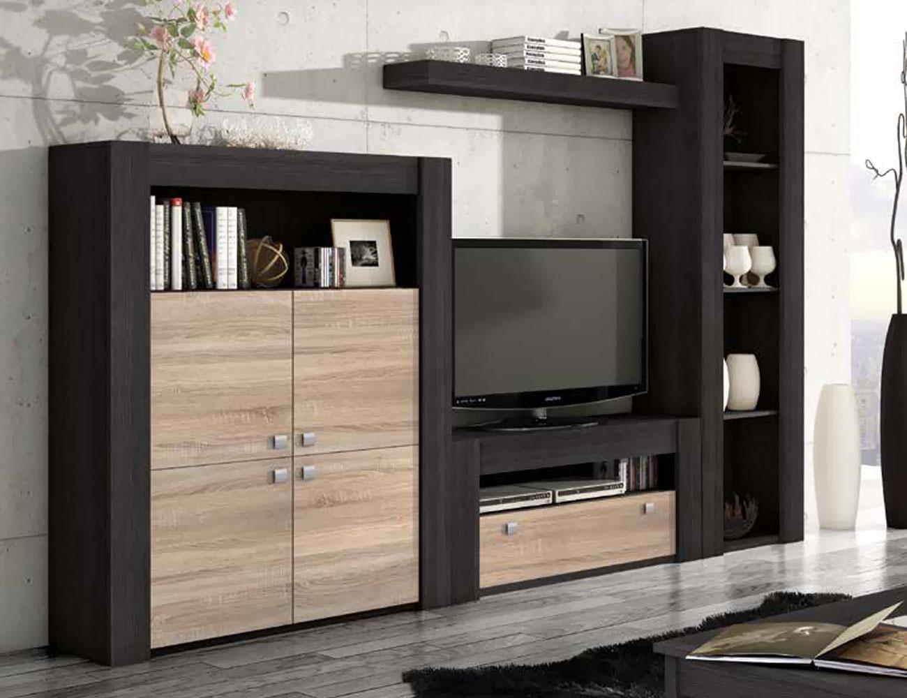 Mueble de sal n modular moderno en ceniza cambrian 2274 for Mueble moderno salon