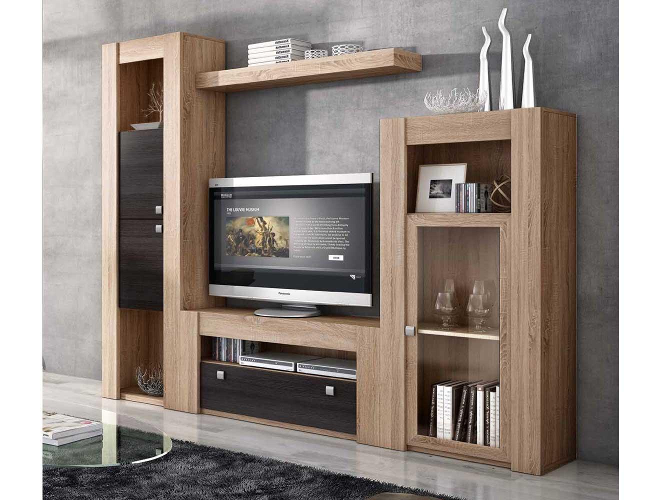 Mueble de sal n modular moderno en cambrian ceniza 2275 for Muebles salon modulares