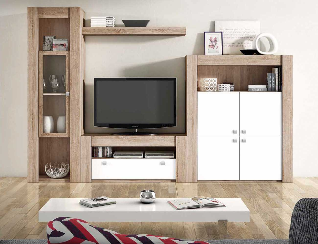 Mueble de sal n modular moderno en cambrian blanco for Mueble salon moderno blanco