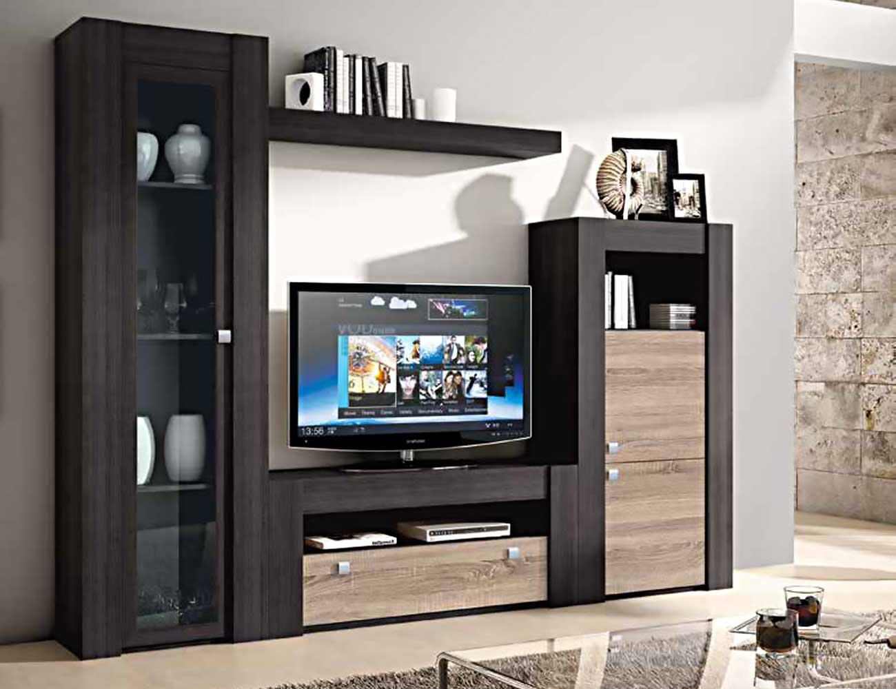 Mueble de sal n modular moderno en ceniza cambrian 2283 for Mueble moderno salon