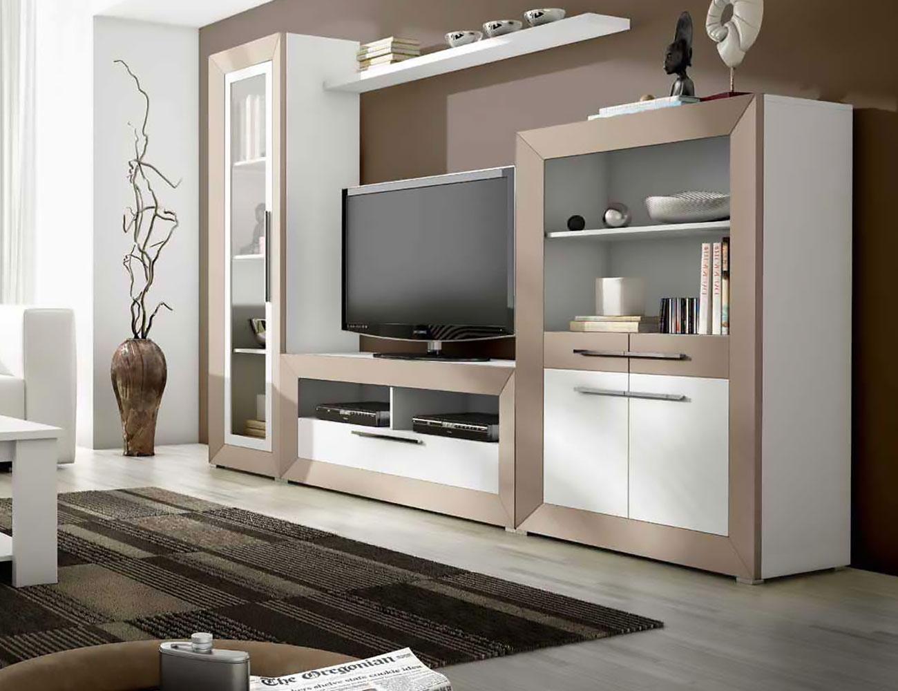 Mueble salon moderno madera dm 01