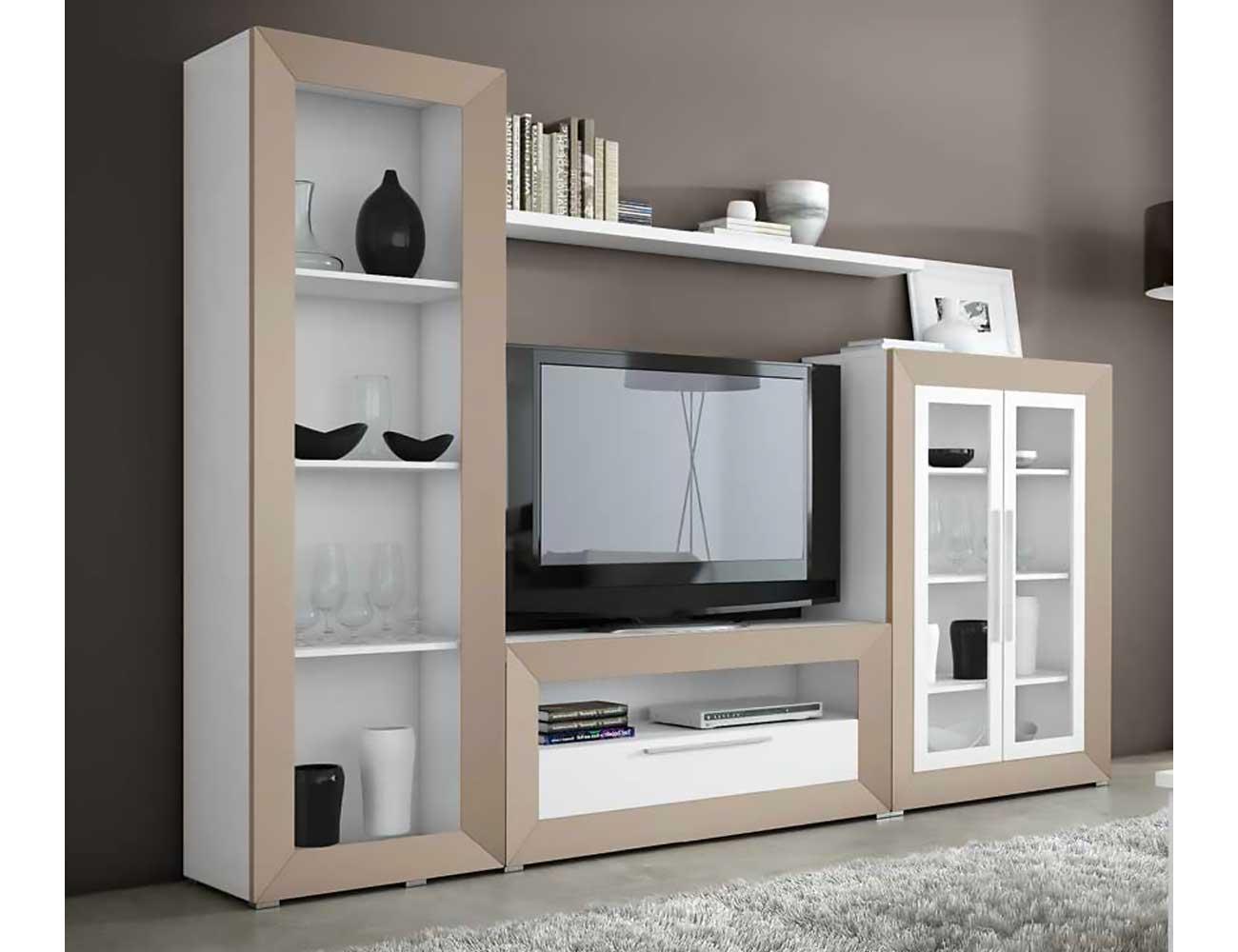 Mueble salon moderno madera dm 06