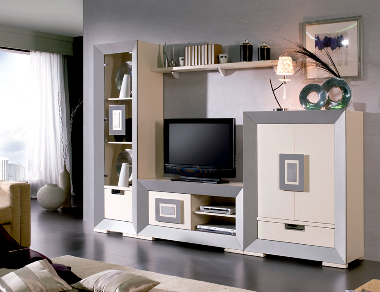 Mueble salon neoclasico color 504 503 tirador acero4