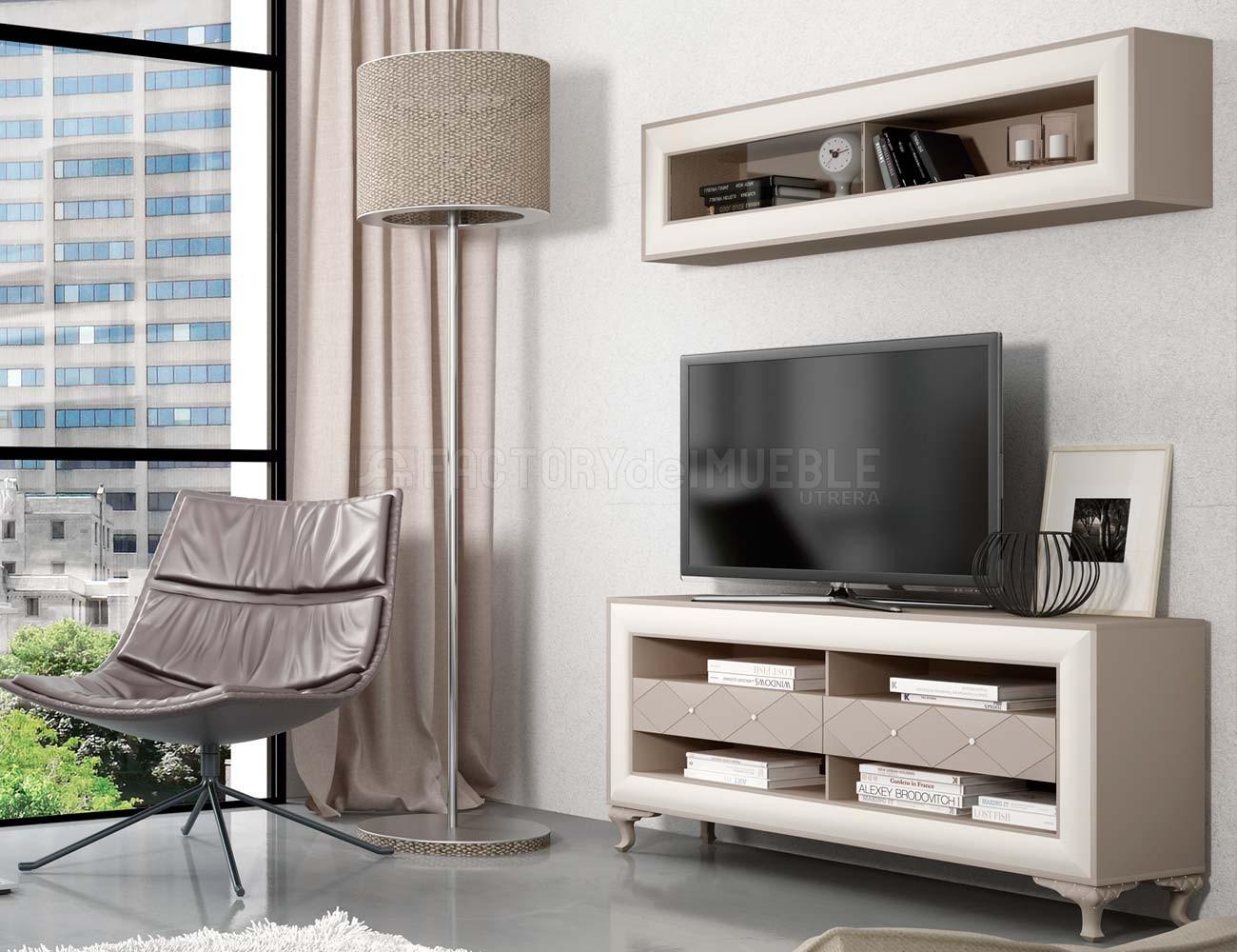 Muebles estilo romantico fabulous vista frontal del for Muebles romanticos blancos