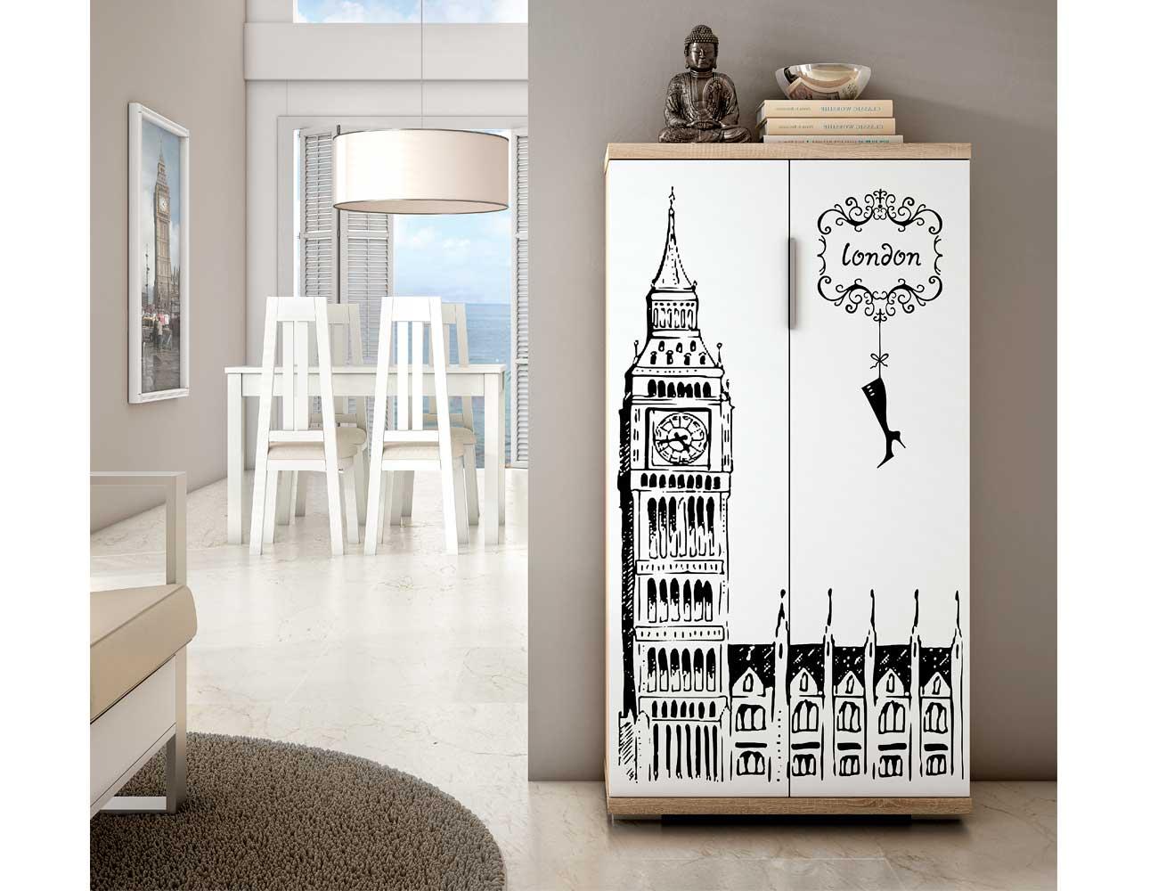 Mueble zapatero dos puertas cambrian london