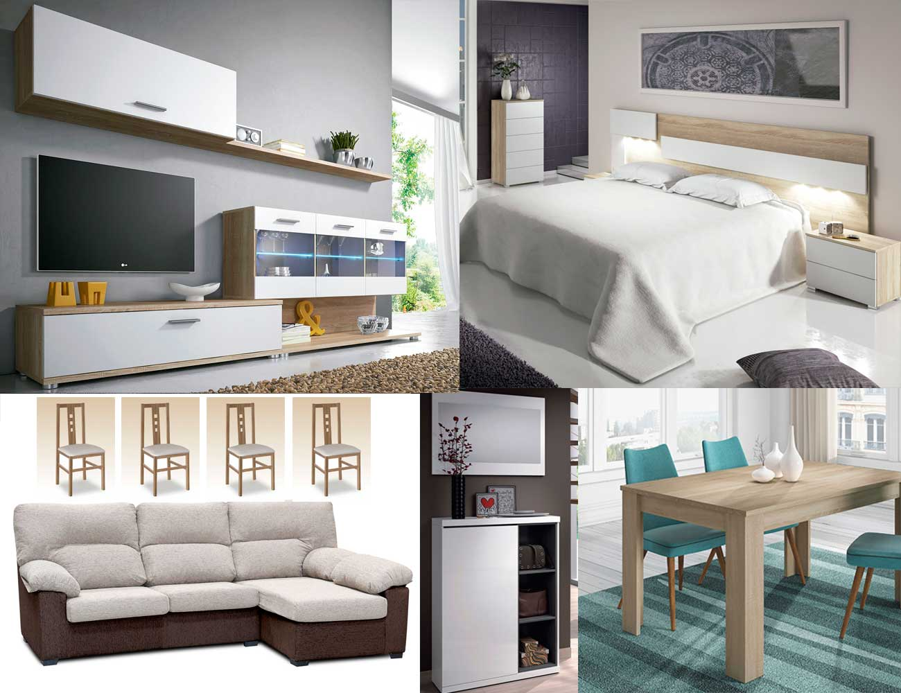 Piso completo ambiente 10 16311 factory del mueble utrera - Piso completo muebles ...