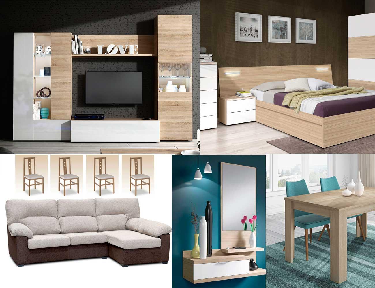 Piso completo ambiente 7 16302 factory del mueble utrera - Muebles piso completo barato ...