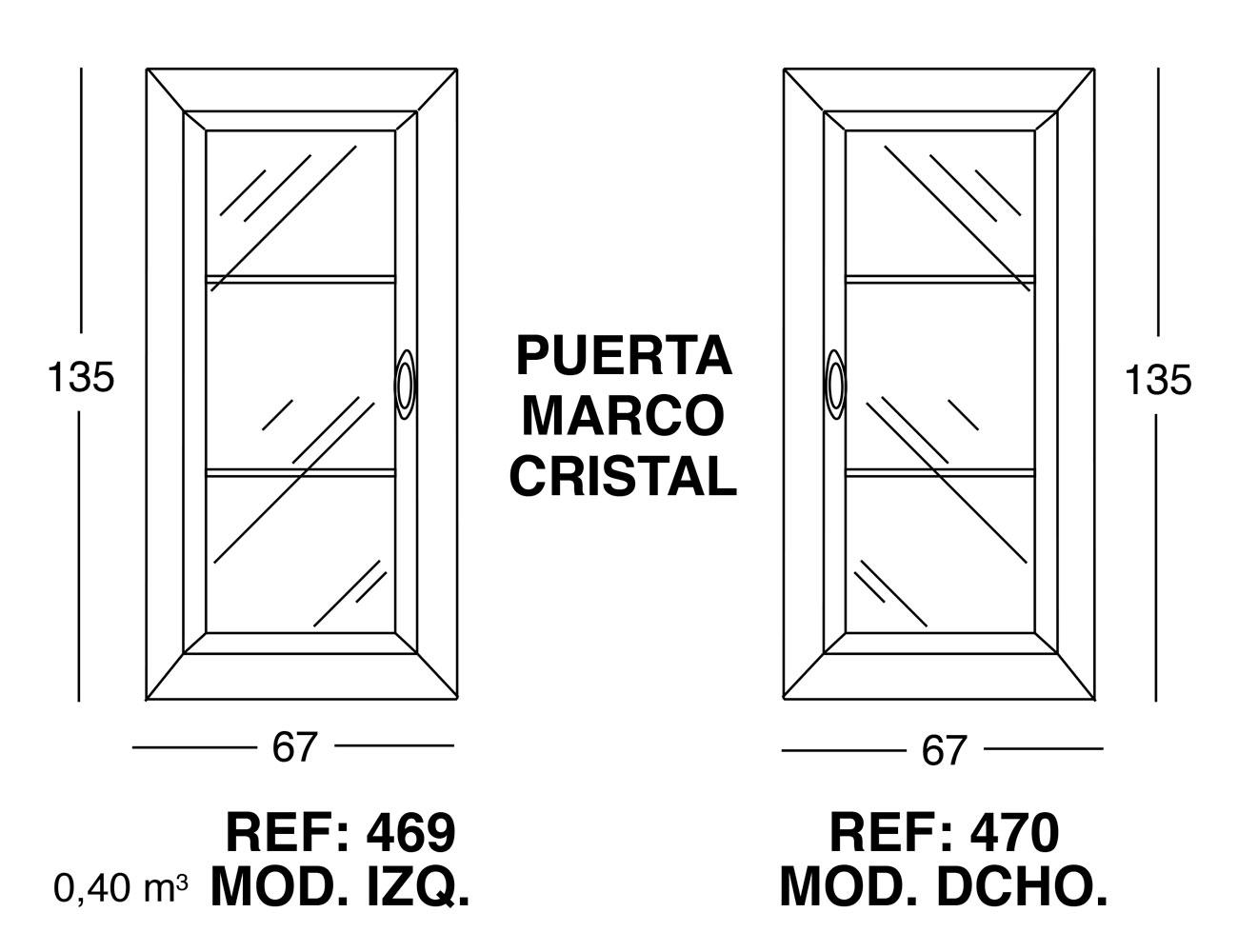 Puerta marco cristal