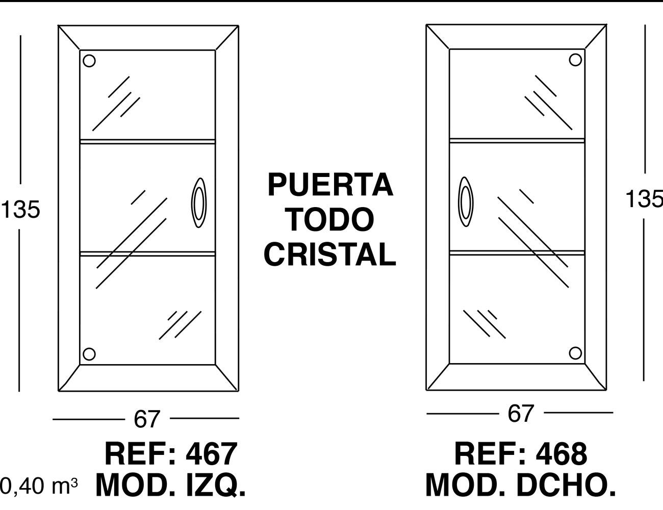 Puerta todo cristal