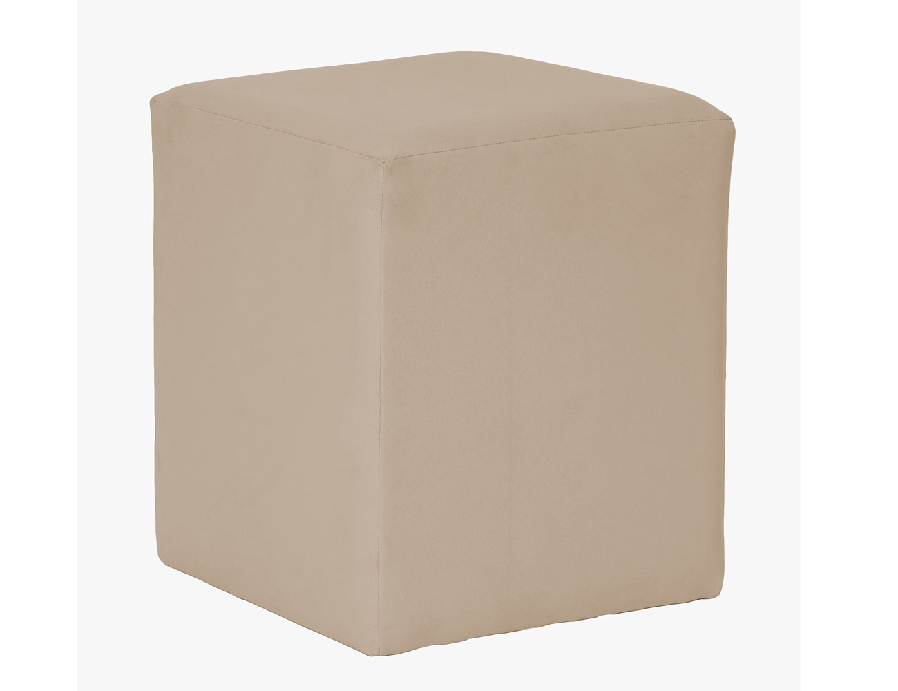 Puff cubo beige
