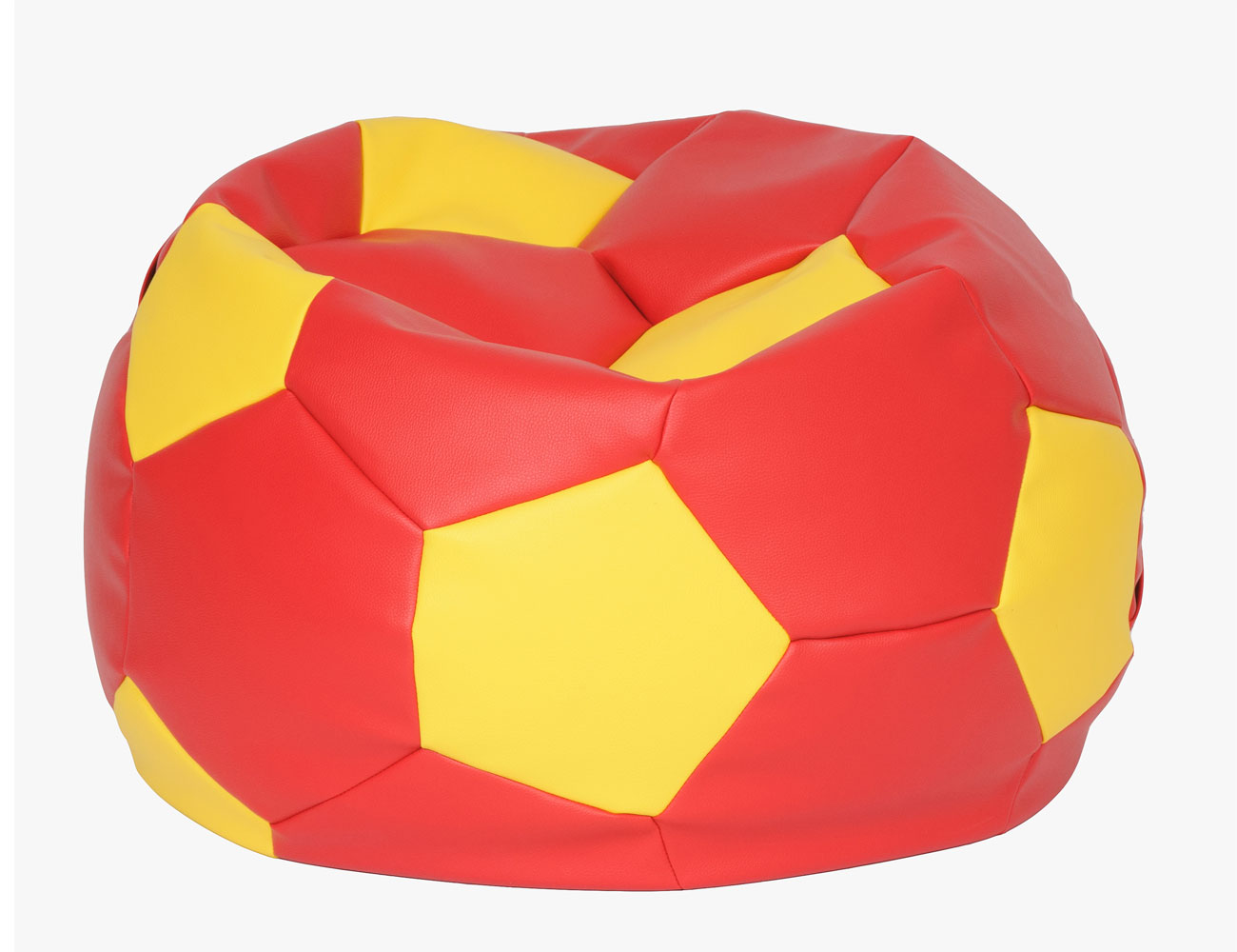 Puff pelota futbol roja amarilla