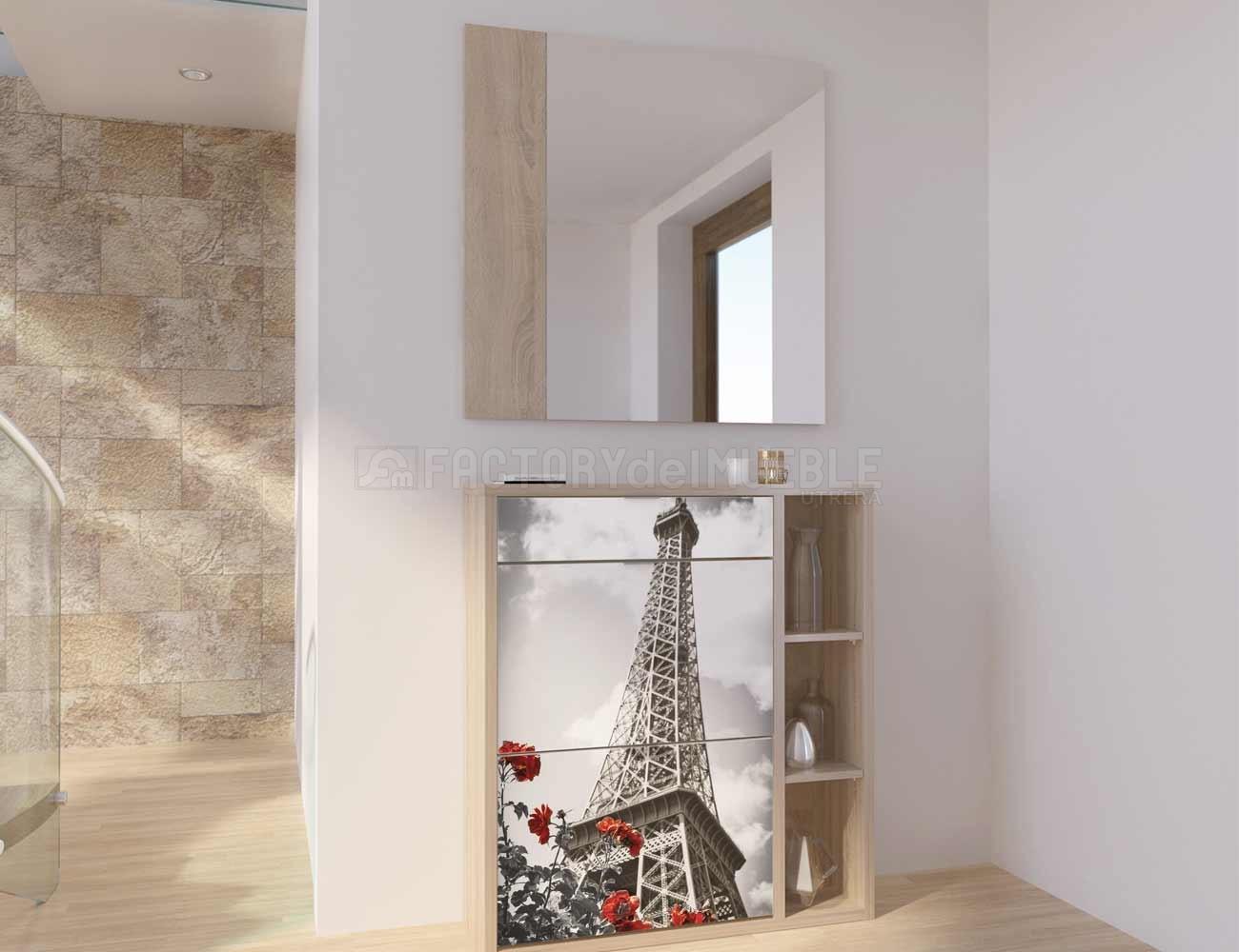 Zapatero recibidor moderno consola con espejo para for Espejos rusticos baratos