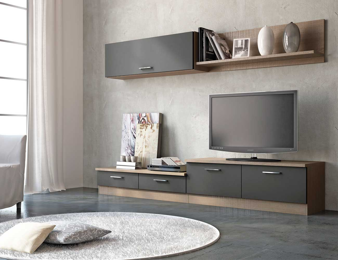 Mueble de sal n estilo moderno color cambrian grafito for Color cambrian muebles