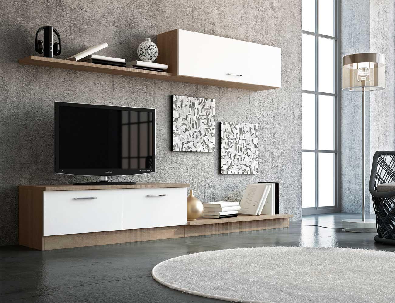 Mueble de sal n estilo moderno color cambrian blanco 6616 for Color cambrian muebles