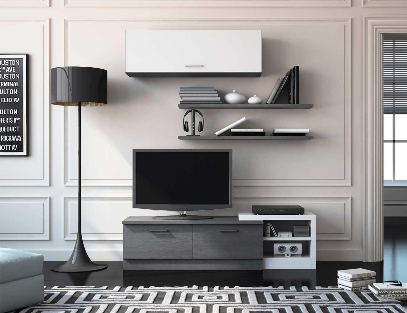 Mueble de salón estilo moderno color cenizablanco  Factory del