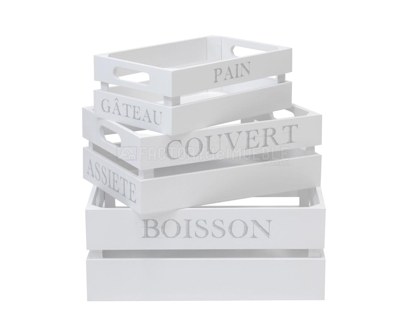 Set cajas blancas
