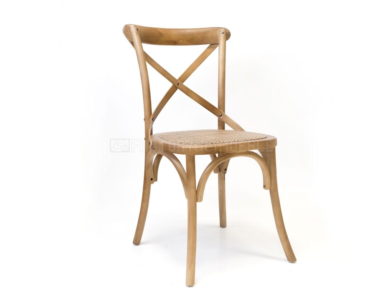 Pack de sillas de cocina en Roble con asiento en Rattán (24791 ...