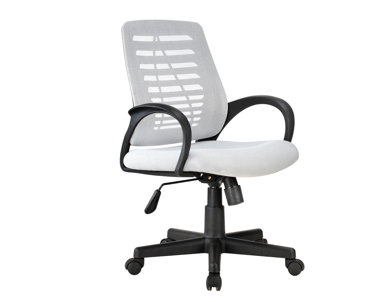 silla de oficina elevable y con respaldo transpirable en