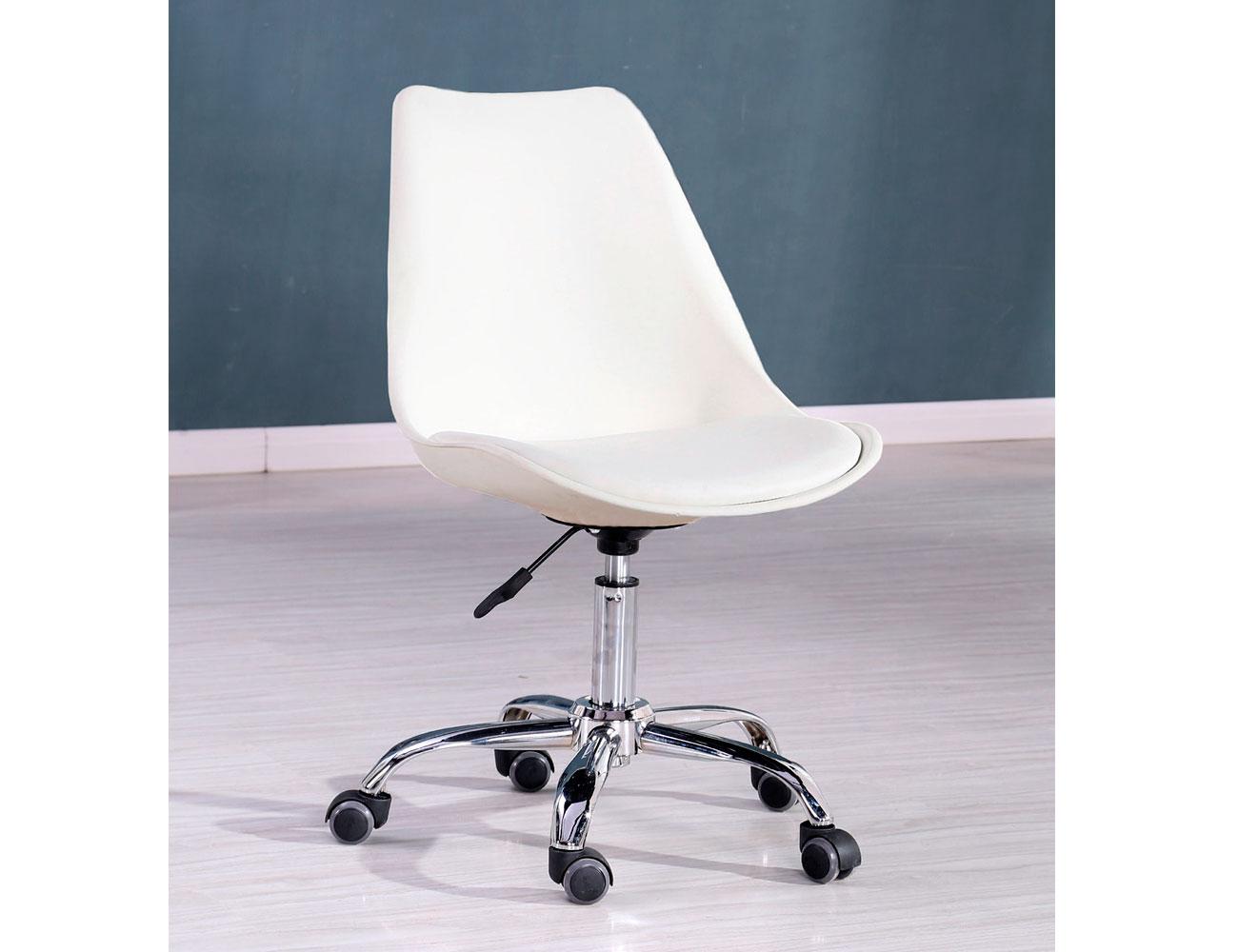 Silla oficina despacho elevable ruedas blanca