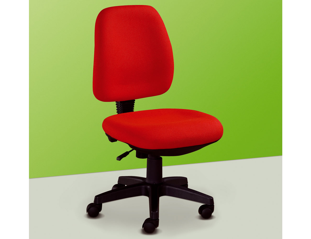 Silla de oficina elevable en color rojo 19858 factory for Muebles sillas oficina