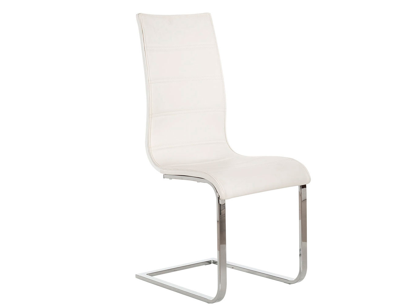 Silla polipiel rebote blanco brillo 4