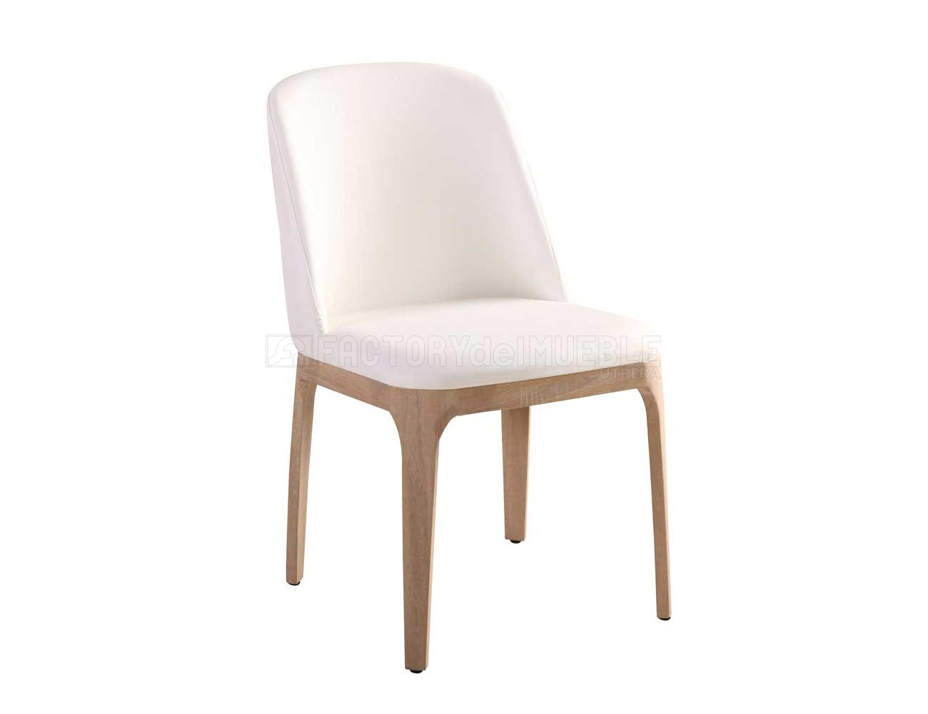 Sillas blancas tapizadas caf usado silla de comedor for Sillas blancas tapizadas