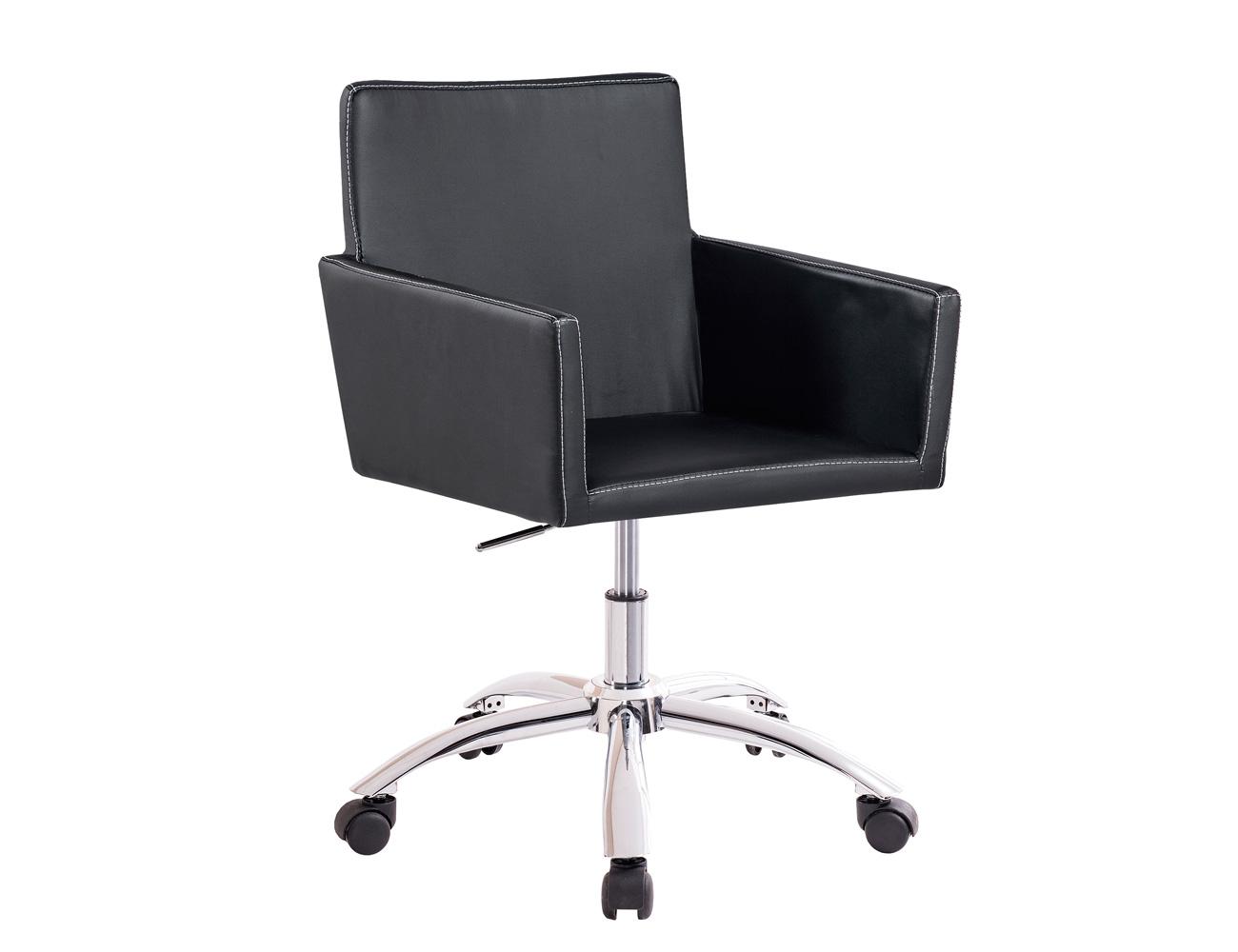 Sillon oficina despacho regulable altura ruedas polipiel negro