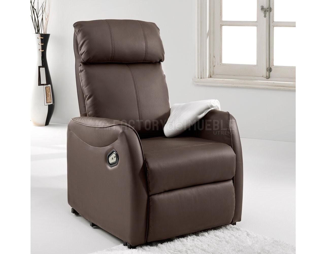 Sillon relax levanta personas power lift simil piel choco1