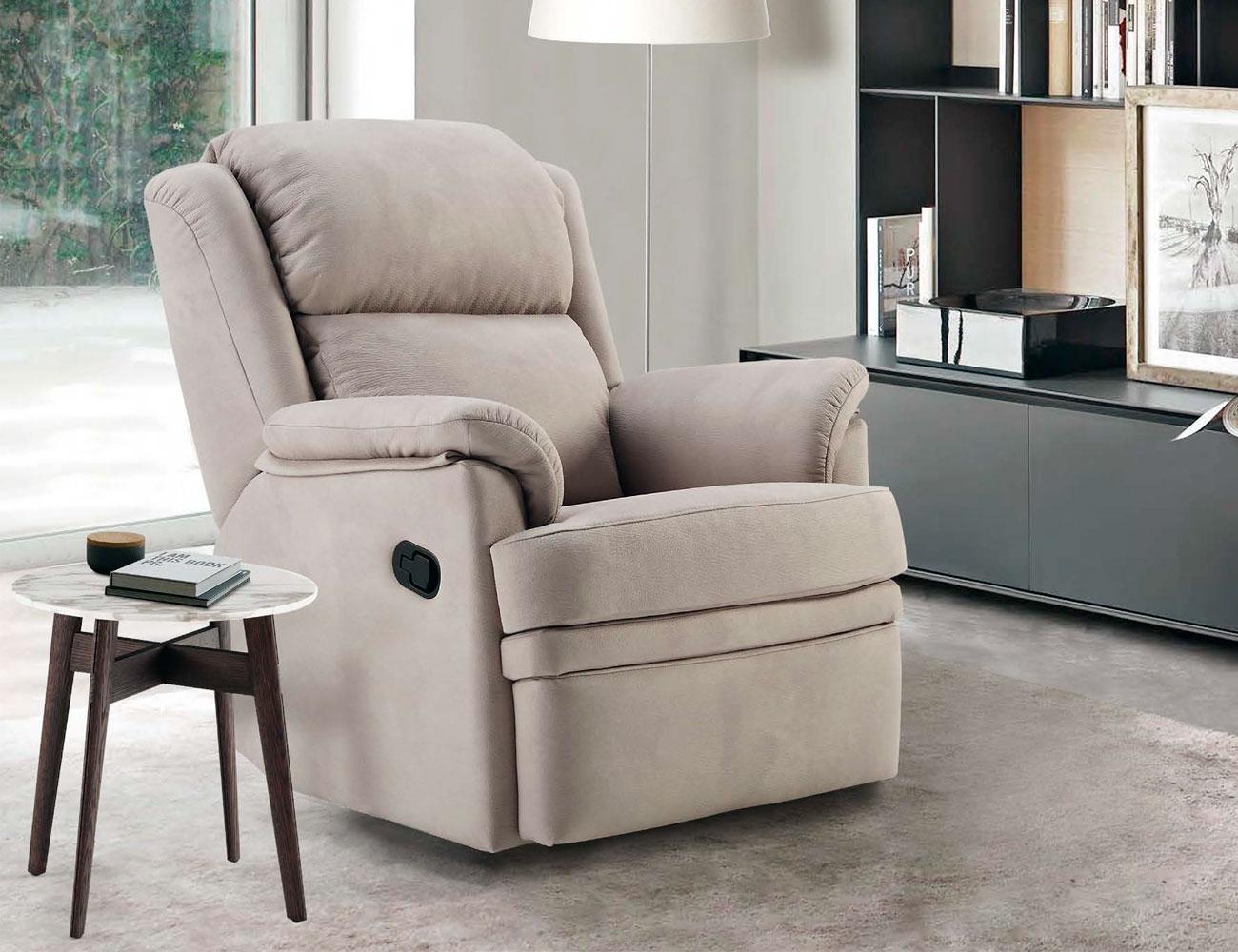 Sillon relax con palanca confortable con giratorio y for Sofas por modulos baratos