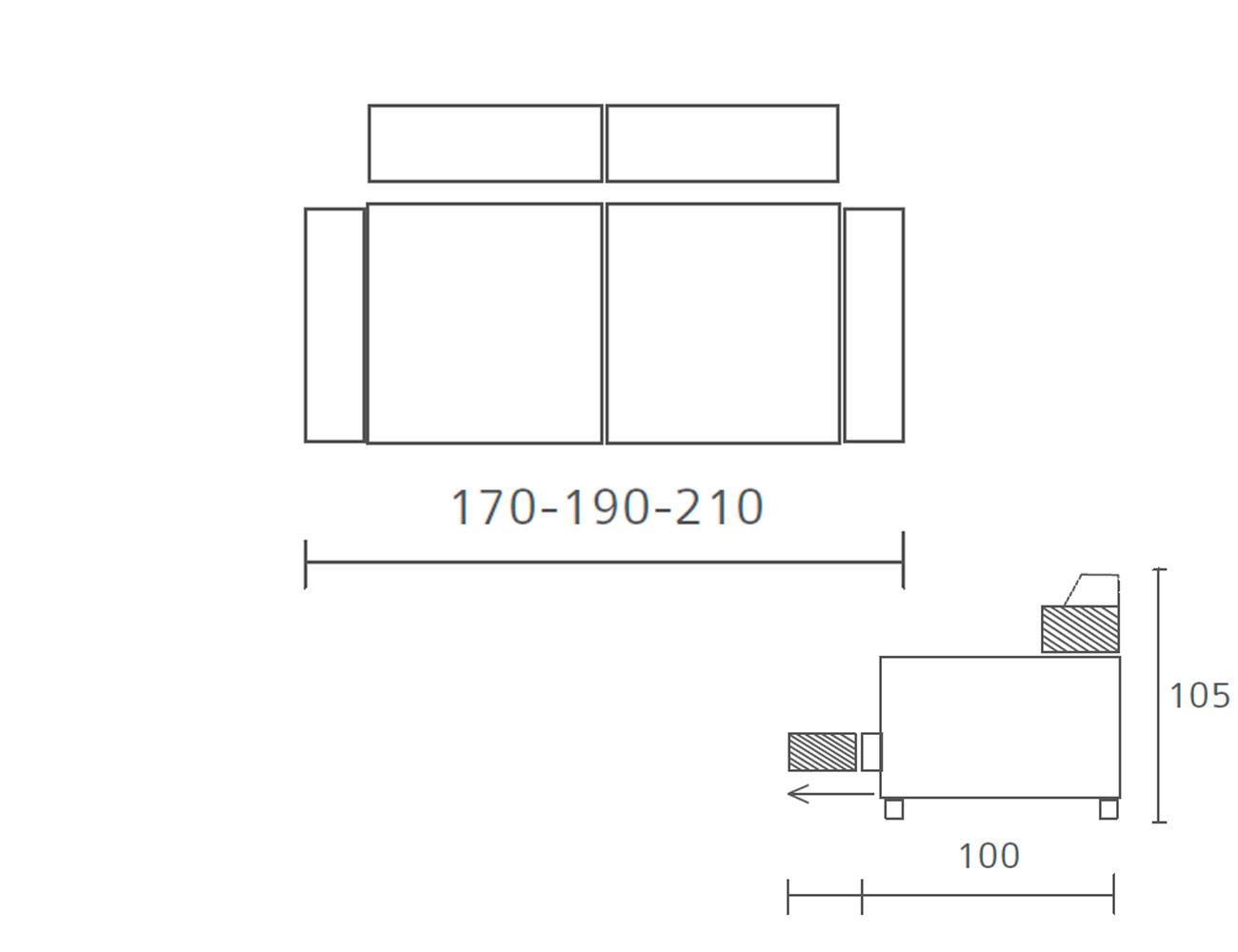 Sofa 120 190 210