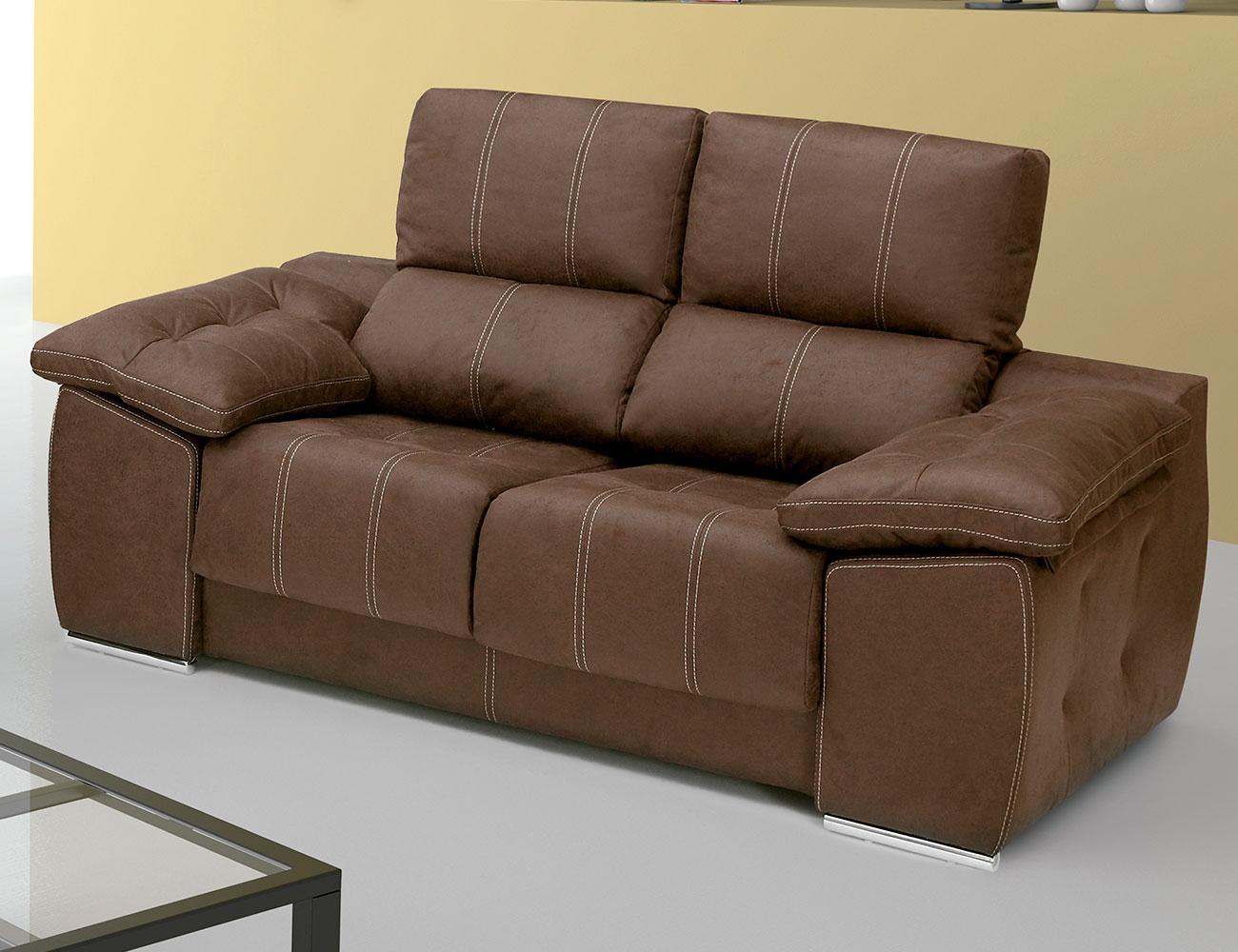 Sof con asientos extra bles y respaldos reclinables con - Factory del sofa sevilla ...