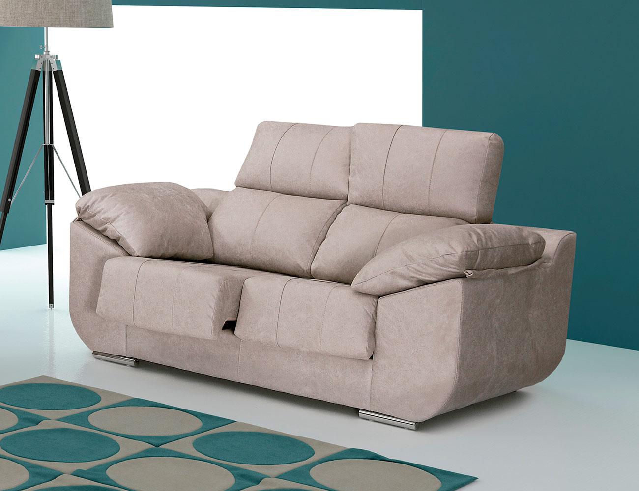 Sof con asientos extra bles y respaldos reclinables en - Sofas de dos plazas pequenos ...