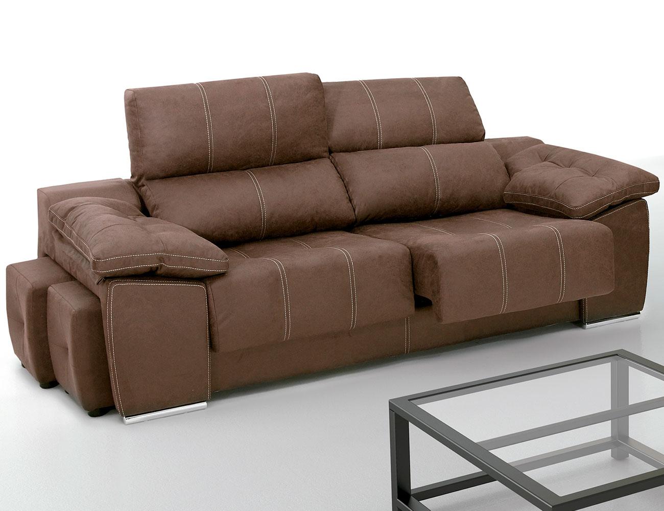Sof con asientos extra bles y respaldos reclinables con - Asientos para sofas ...