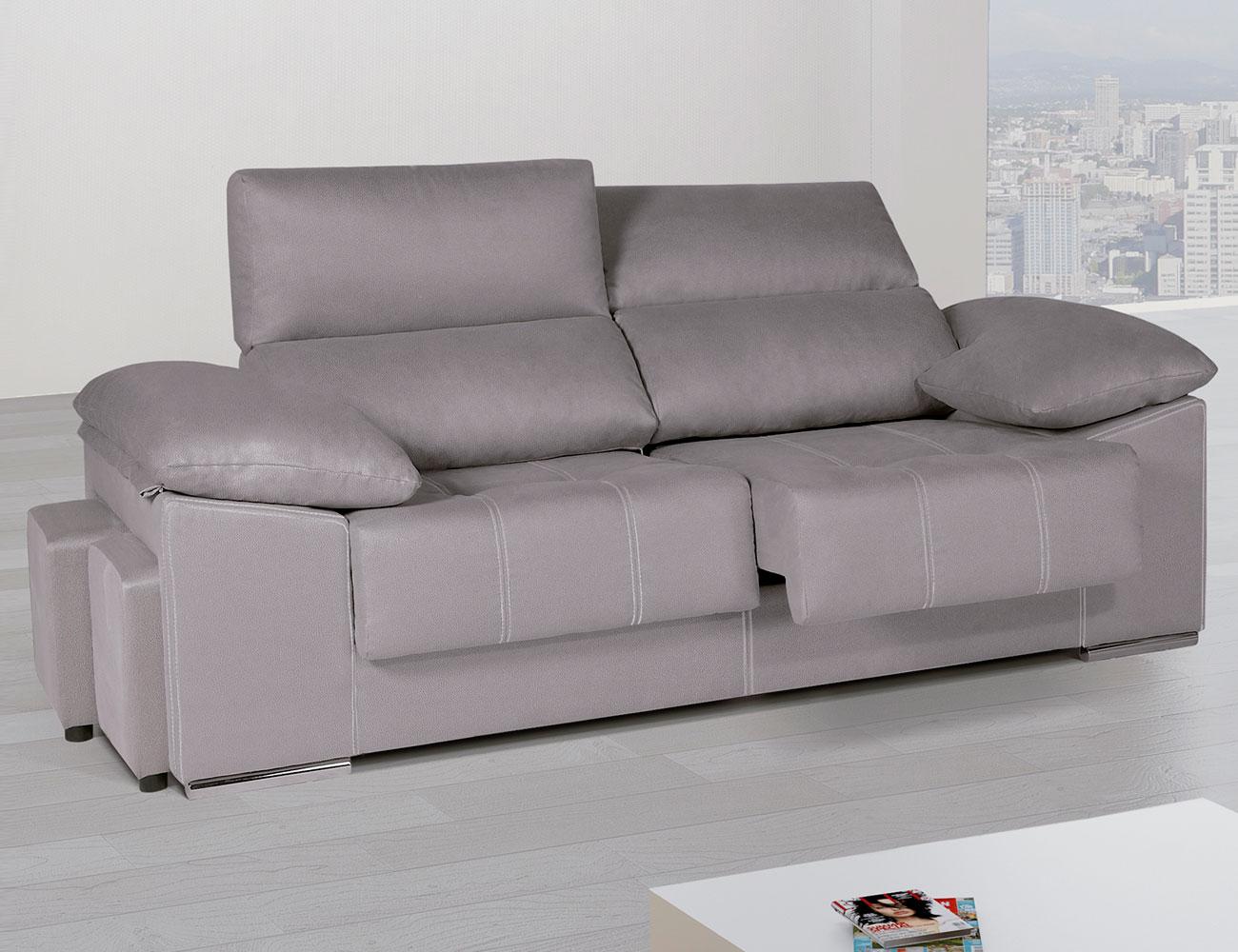 Sof asientos extra bles y respaldos reclinables con for Sofa 4 plazas asientos deslizantes