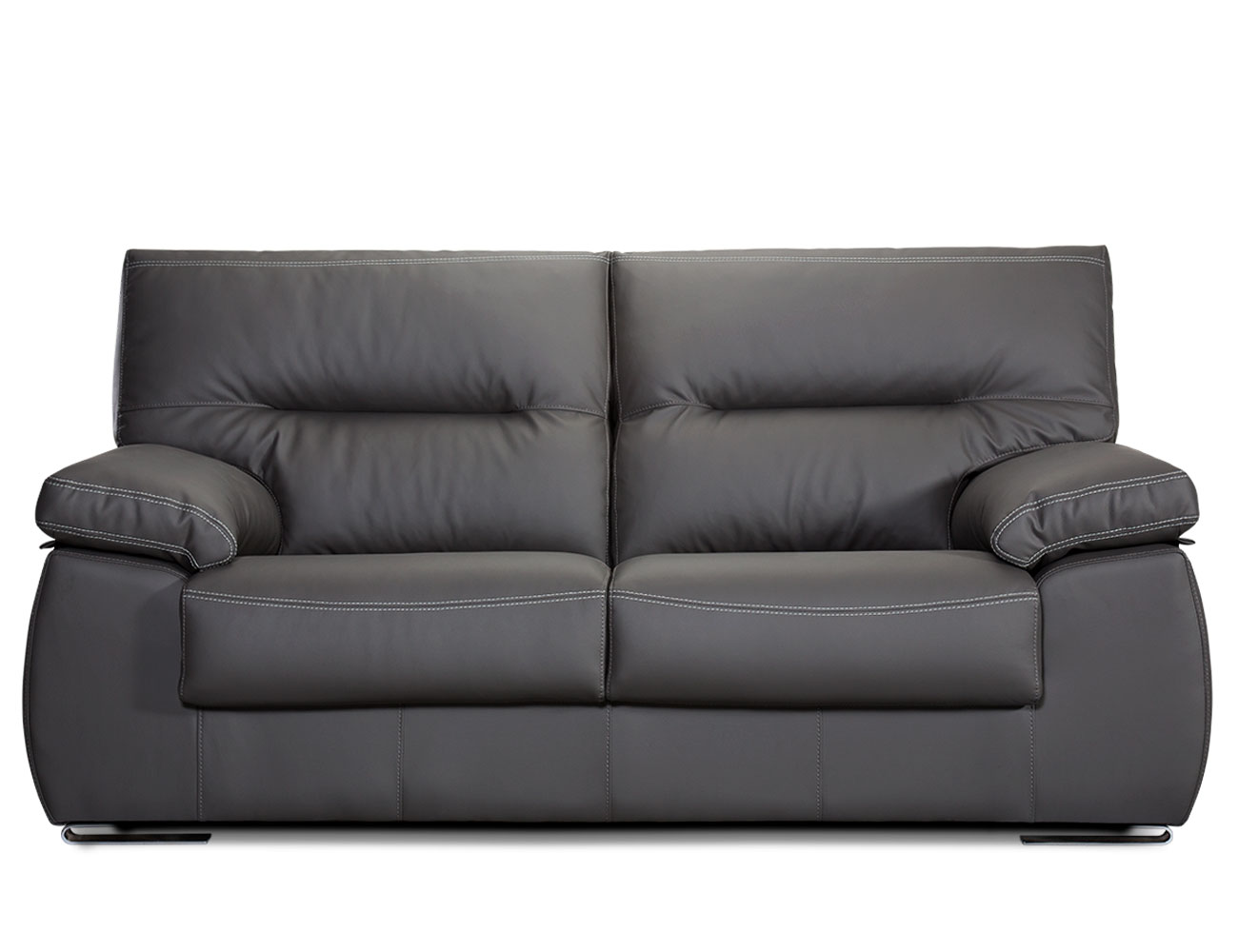 Sofa 3 plazas piel polipiel negro 21
